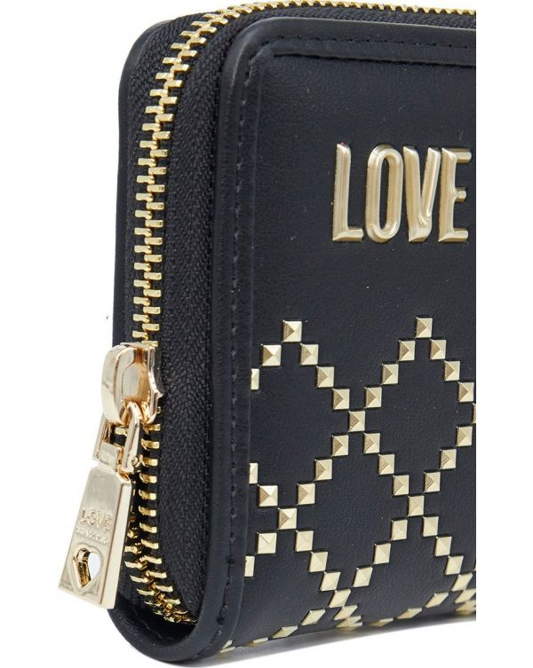 Small Studded Zip Around Purse