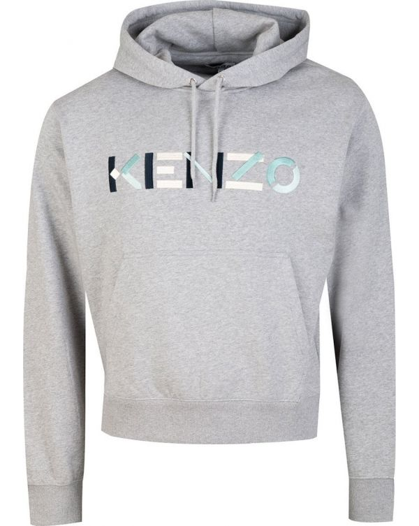 Embroidered Chest Logo Pop Over Hoody