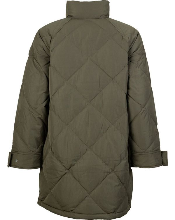 Diamond Quilted Slit Detail Puffa