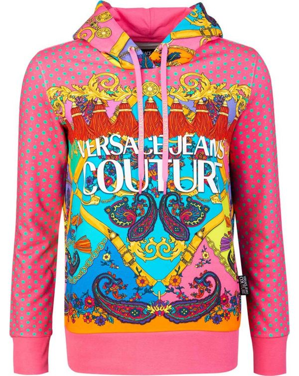 All Over Paisley Print Hoody