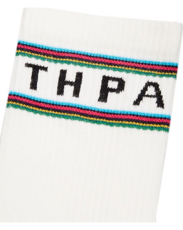 Stripe Logo Sport Socks