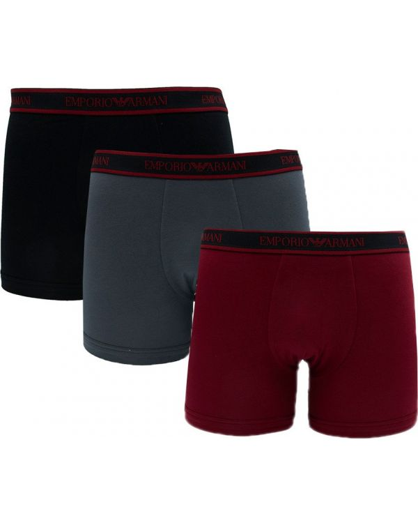 3 Pack Logo Waistband Boxer Shorts