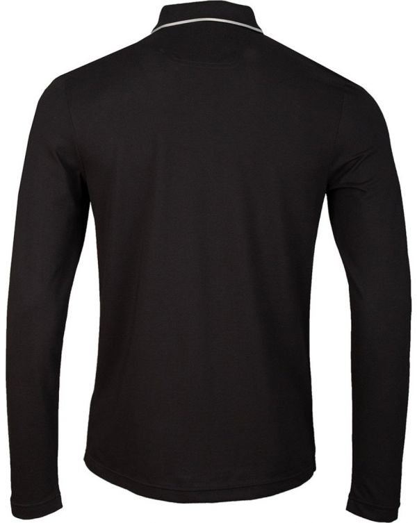 Pleesy 4 Plackett Long Sleeved Polo Shir