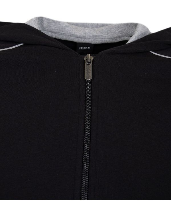 Mix And Match Zip Up Hooded Jacket