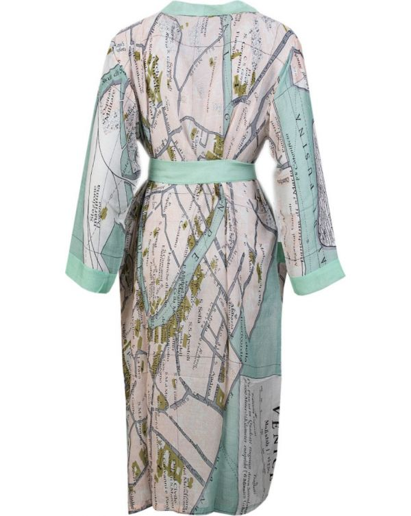 Venice Map Print Gown