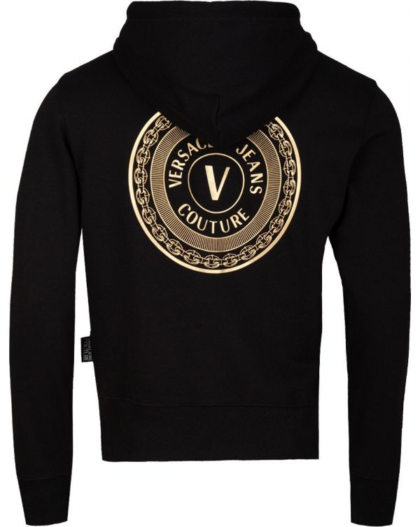 Embroidered Logo Zip Through Hooded Top