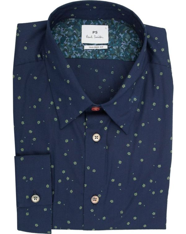 Ditsy Floral Print Tailored Shirt