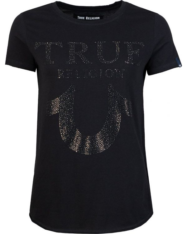 Crystal Embellished Logo T-Shirt