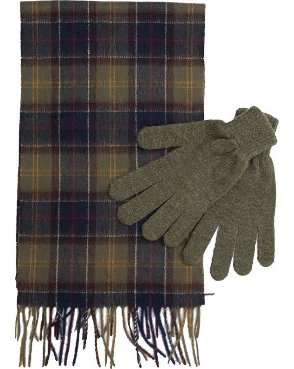 Tartan Scarf And Gloves Gift Set