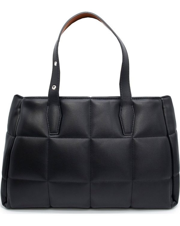 Small Logo Quilted Tote Bag