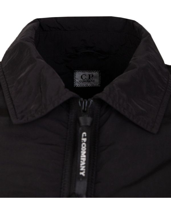 Arm Lens Zip Through Nylon Overshirt
