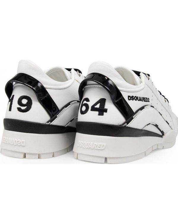 Piping Logo Leather Trainers