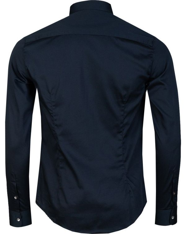 Long Sleeved Slim Fit Logo Shirt
