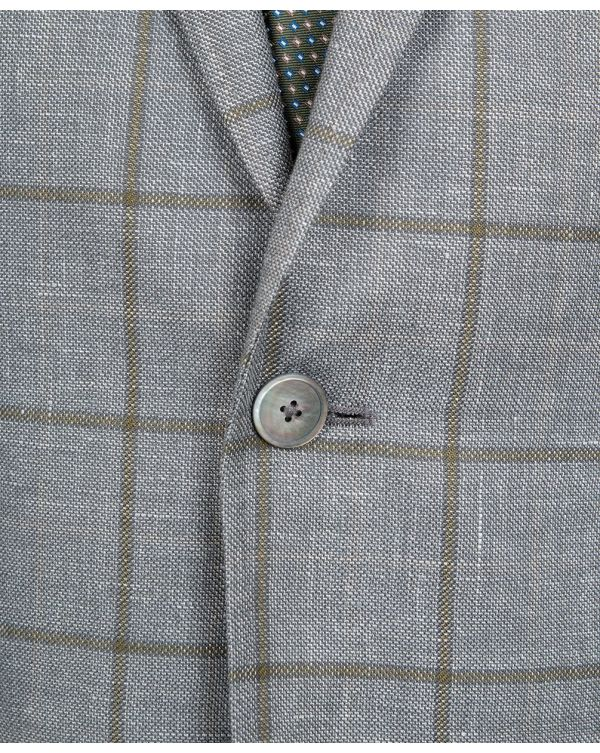 Hutsons Windowpane Checked Blazer