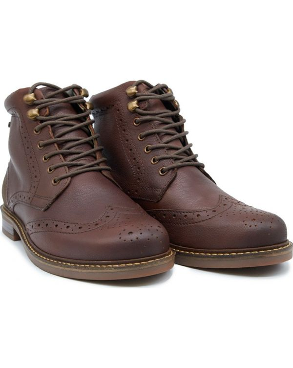 Seaton Brogue Leather Boots