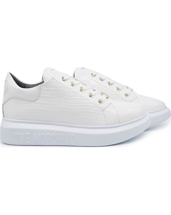 Chunky Sole Patent Croc Trainers