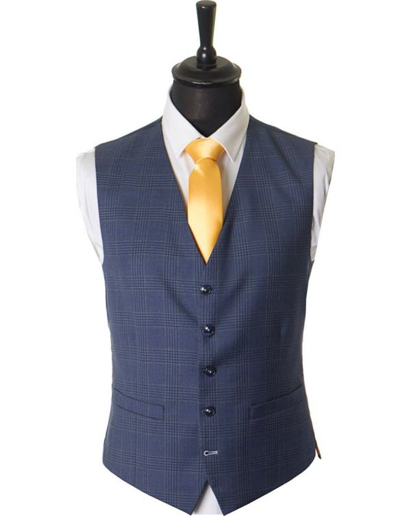 Prince Of Wales Checked Waistcoat