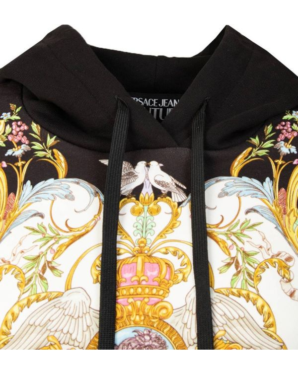 Panel Pattern Pull Over Hoody