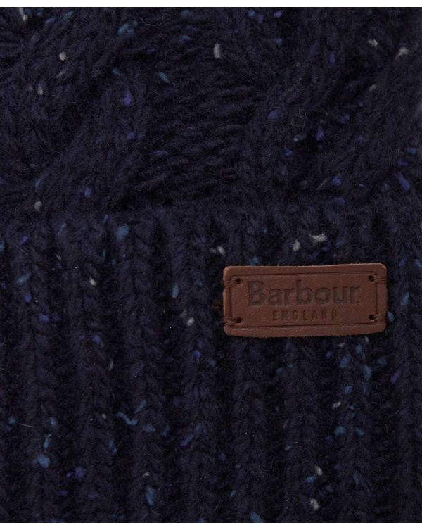 Seaton Cable Knit Bobble Beanie