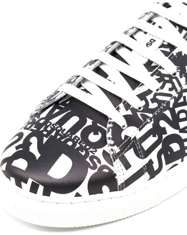 All Over Logo Tennis Sneakers