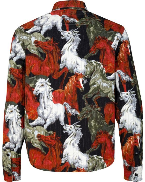 Quilted Horse Print Shirt