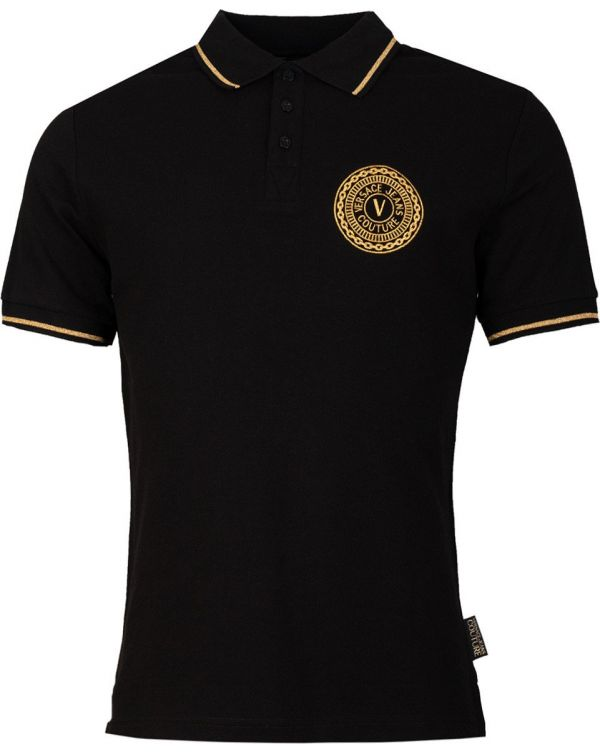 Embroidered Circle Logo Tipped Polo