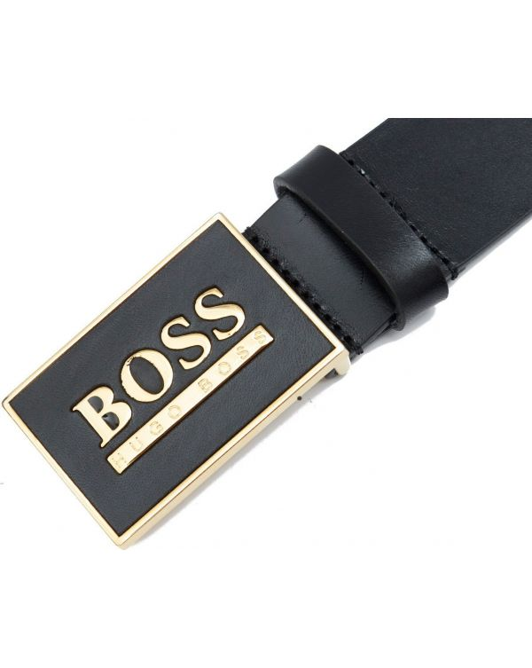 Boss Icon Leather Belt