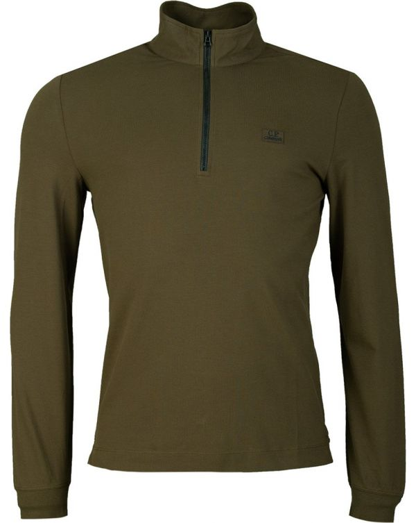 Quarter Zip Long Sleeve Pique Sweat