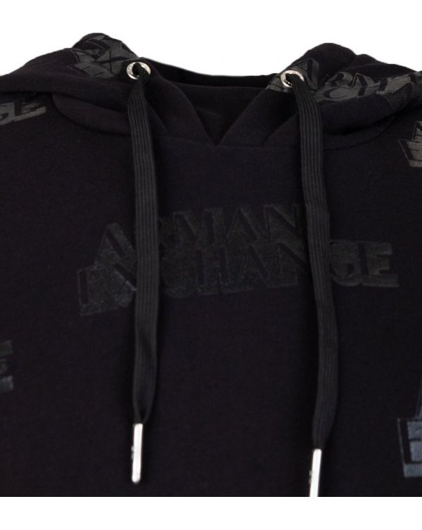 All Over Logo Pop Over Hooded Top