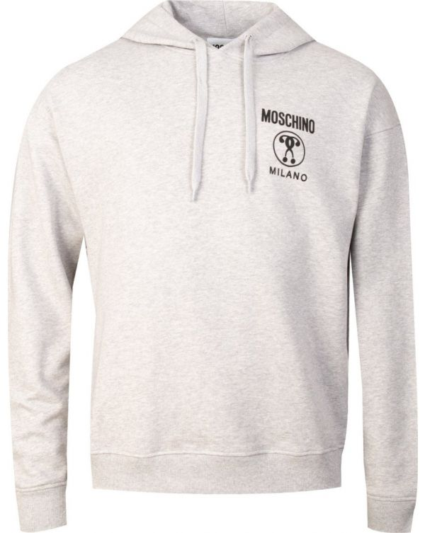 Moschino Milano Logo Pop Over Hooded Top