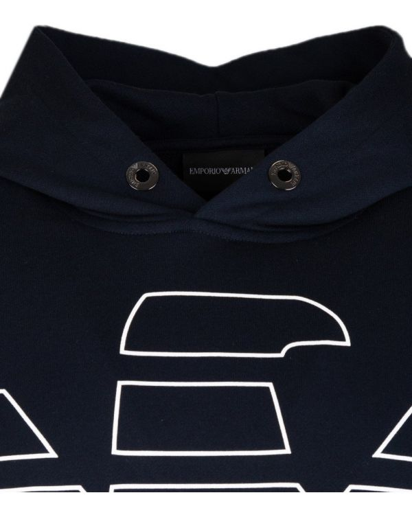 Eagle Logo Pop Over Hooded Top