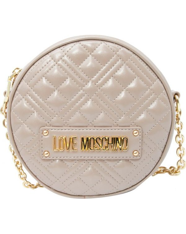 Quilted Round Chain Detail Bag