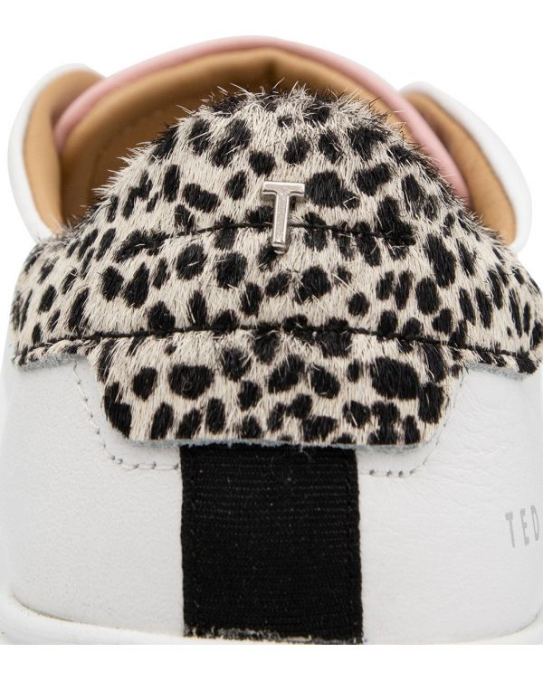 Chunky Sole Leopard Contrast Trainers