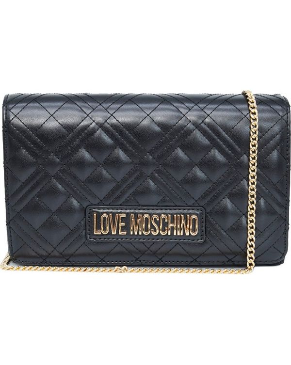 Quilted Chain Detail Shoulder Bag