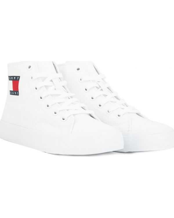 Mid Cut Lace Up High Top Sneakers