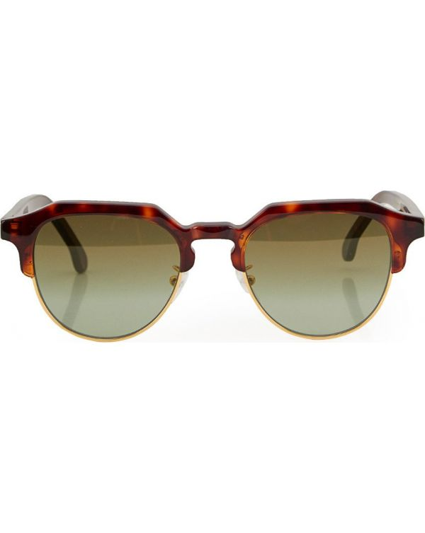 Barber Half Metal Frame Sunglasses