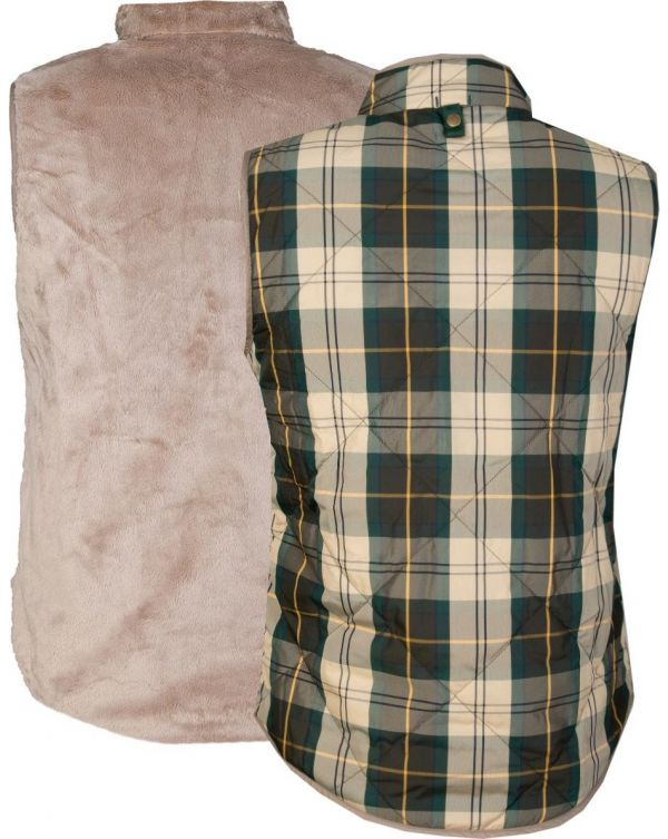May Apple Funnel Neck Reversible Gilet