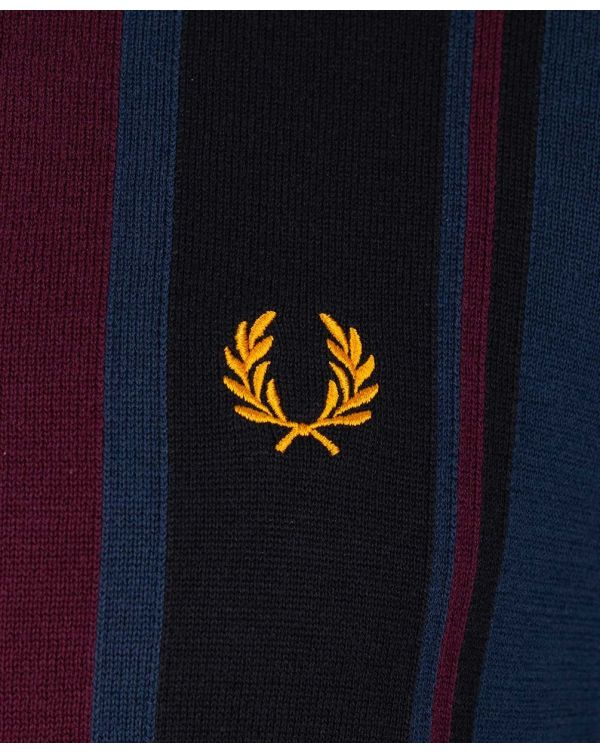 Colour Block Knitted Polo Shirt