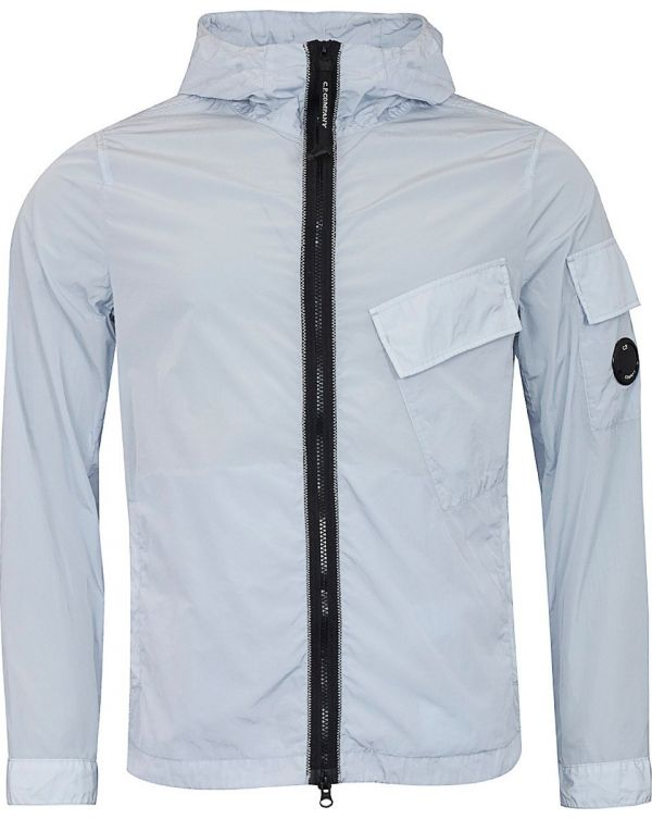 Hooded Zip Through Chrome Overshirt