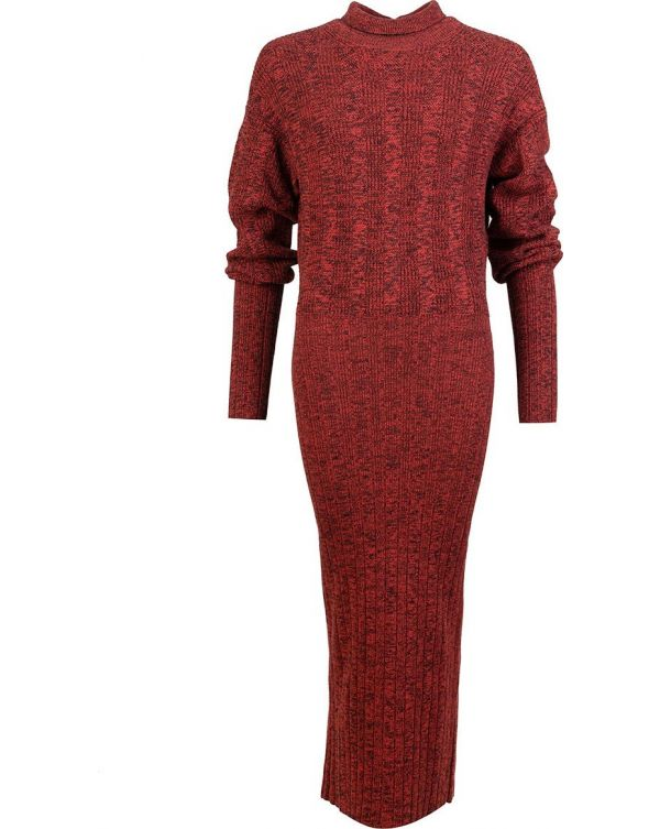 Textured Long Knit Dress