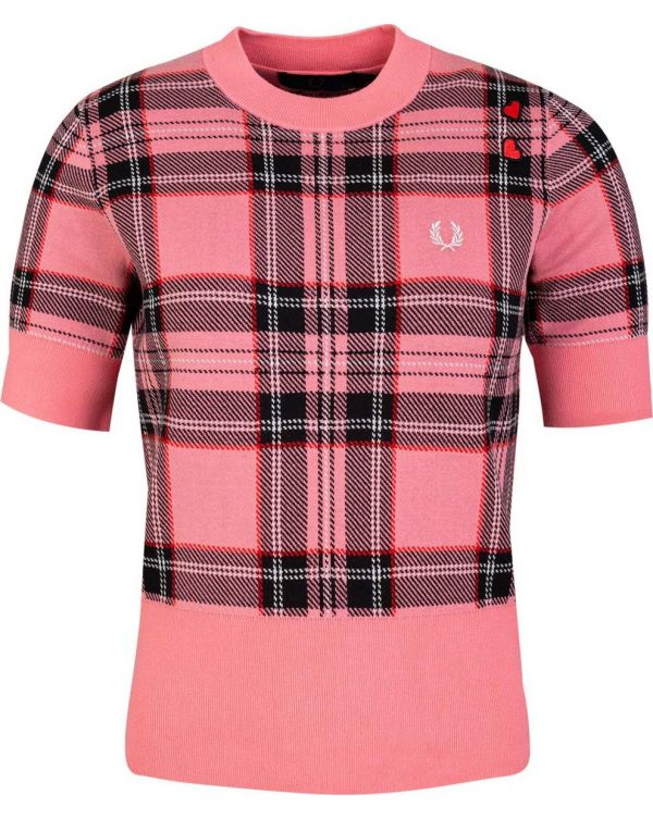 Short Sleeved Tartan Knit