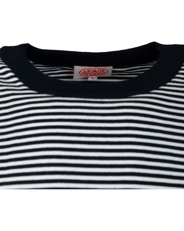 Short Sleeved Fine Striped T-shirt