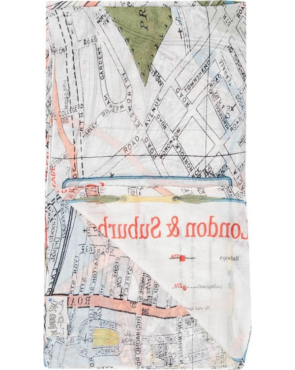 Streets Of London Map Print Scarf