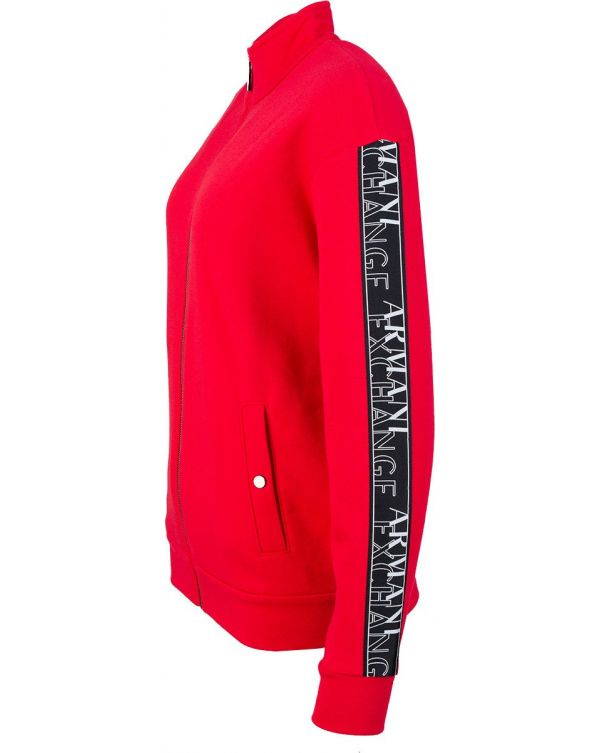 Velour Lipstick Pin Zip Through Hoody