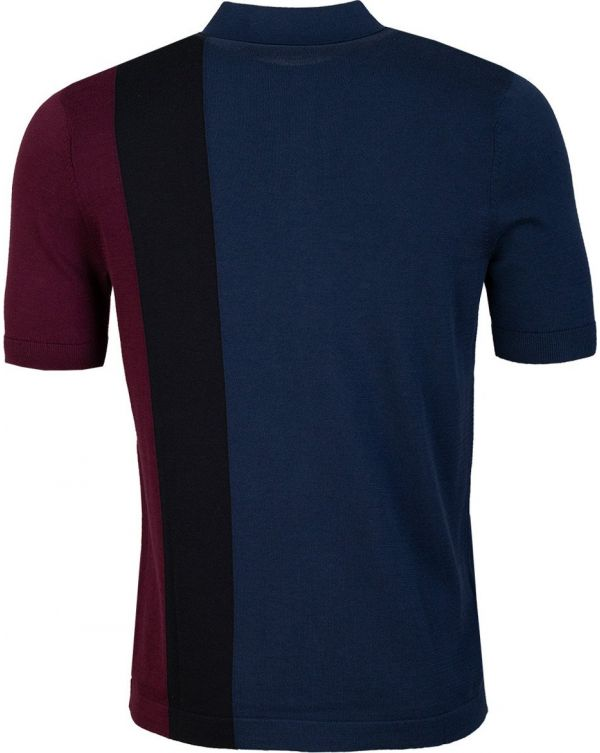 Side Panel Knitted Polo Shirt
