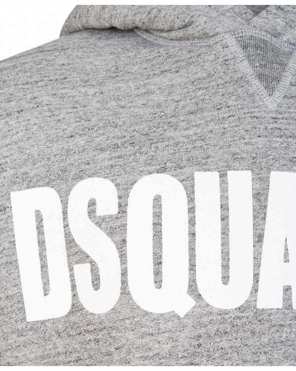 Dsquared2 Chest Logo Pop Over Hoody