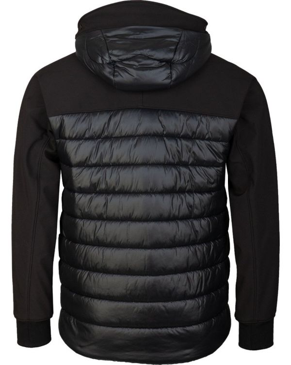 Soft Shell Quilted Hooded Jacket