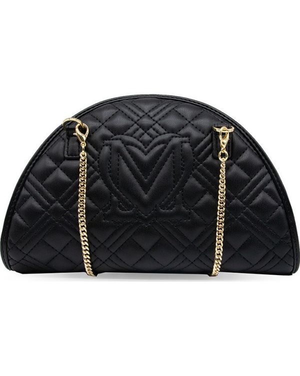 Curved Quilted Crossbody Bag