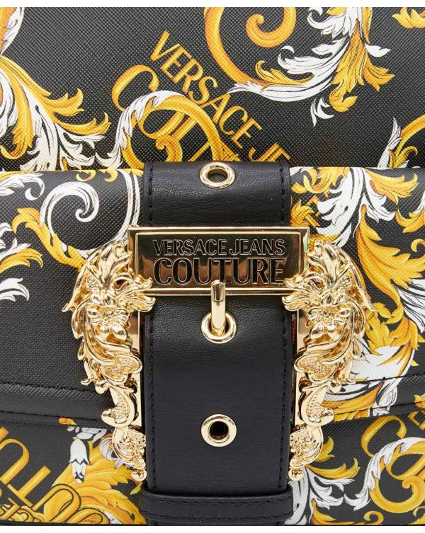 Baroque Print Chain Handle Backpack