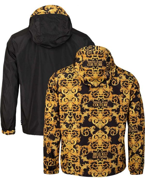 Baroque Print Reversible Hooded Jacket